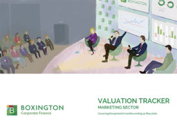 Valuation Tracker for Marketing sector